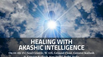 Special Workshop for Healing with Akashic Intelligence
