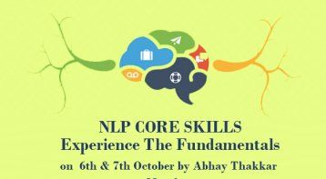 NLP Core Skills workshop by Abhay Thakkar - India's favorite
