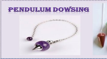 Pendulum Dowsing Workshop: Talk With Your Subconscious