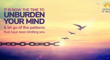 Workshop To Unburden Your Mind And Let Go With Ease