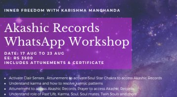 Whatsapp Workshop on Akashic Records