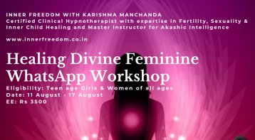 Whatsapp Workshop for Healing the Divine Feminine Within