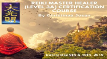 Reiki Master Healer (Level 3A) Certification Course