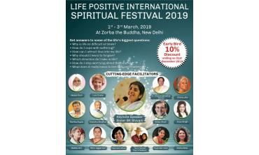 Lifepositive 3-day event of holistic wellness, spiritual growth, conscious and healthy living
