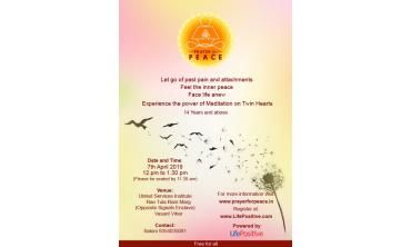 Registration for Prayer for Peace Free Group Meditation Event