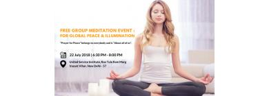 Free Group Meditation Event: For Global Peace & Illumination