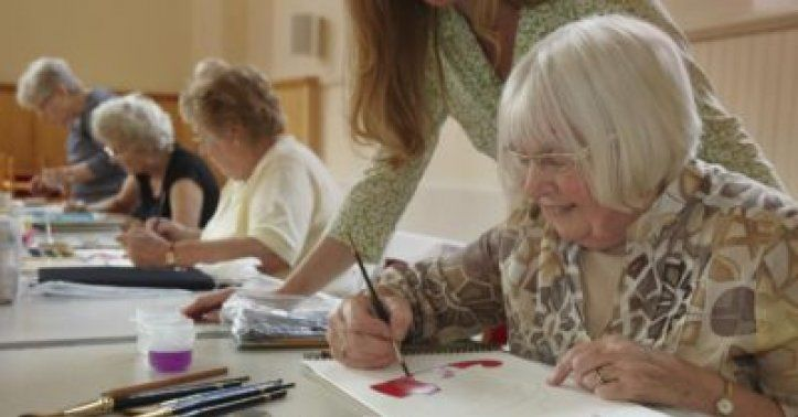 Benefits of art therapy for elderly - only for adults
